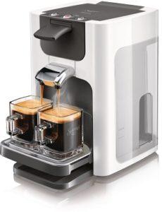 machine à café pas cher , machine à dosettes Senseo gris